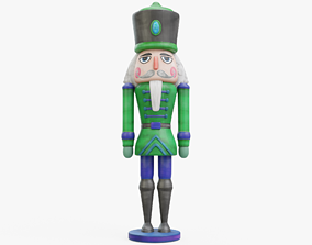3D asset low-poly Nutcracker