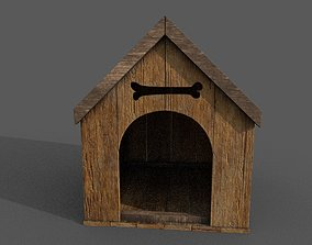 VR / AR ready Doghouse 3D model