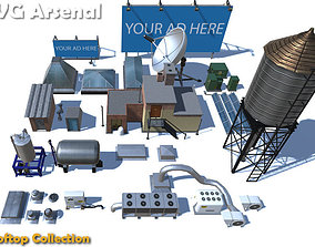 3D asset Rooftop Collection - HQ