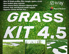 Grass Kit v 4-5 for Cinema 4D R20 R21 3D model