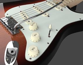 3D model Fender Stratocaster Electric Guitar - Elite