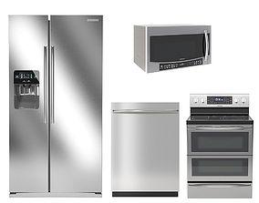 3D Samsung kitchen appliances