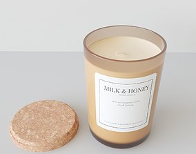 3D Aroma Candle Milk and Honey