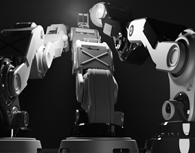 One Robot pyro or striker turret 3D model rigged