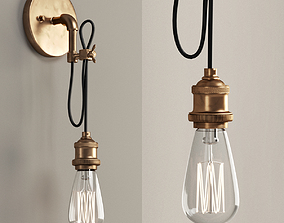 3D Wired Industrial Convertible Wall Sconce and Pendant