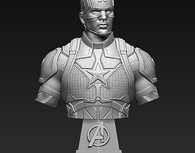 3D printable model sculptures Captain America Bust