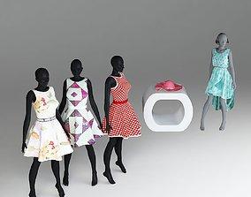 women fashion 3d models