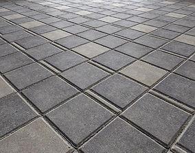 3D model Paving slabs Floor 009