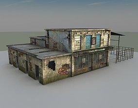 3D asset Abondened Building 13