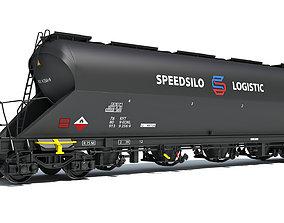 Railroad Silo Tank Train Car 3D model industrial