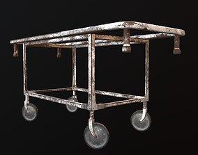 Old hospital gurney 3D model