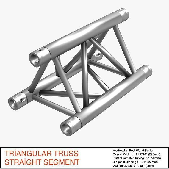 Triangular Truss Straight Segment 071