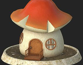 3D model Cartoon mushroom house 5