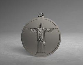 Pendant Jesus Rio de Janeiro 3D print model