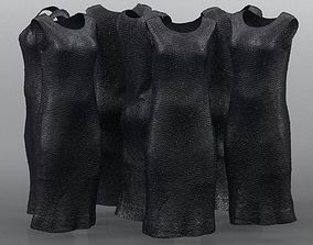 3D model Long Black Shiny Gala Dress