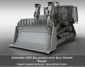 Armored D9R Bulldozer 3D model