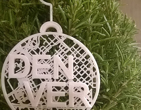 027b - Ornament - Denver Map - 3D printable model