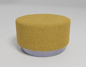 3D model ROLL - Fabric round pouf -