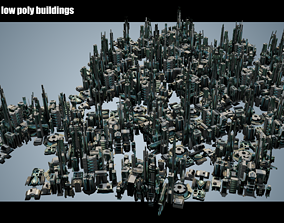 35 Futuristic Buildings VOL 4 3D model