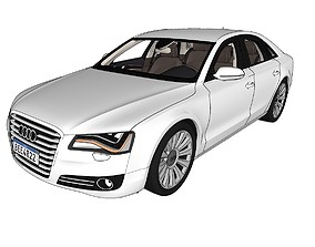 Audi A8 D4 car for games 3D model