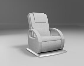 3D model massage wellness chair modern light grey fabric