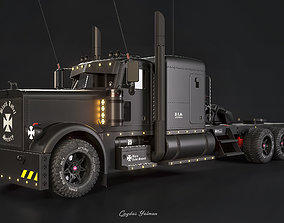 3D Peterbilt 389 Black Label Society High Poly