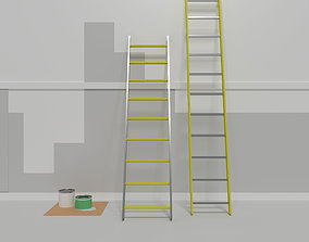 3D model Repair work Aluminum stairs Can inks