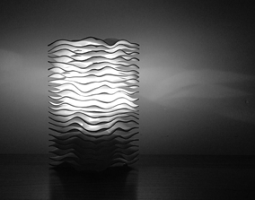 Wave lamp high quality version 3D printable model