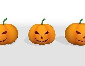 3D asset game-ready Halloween Pumpkin