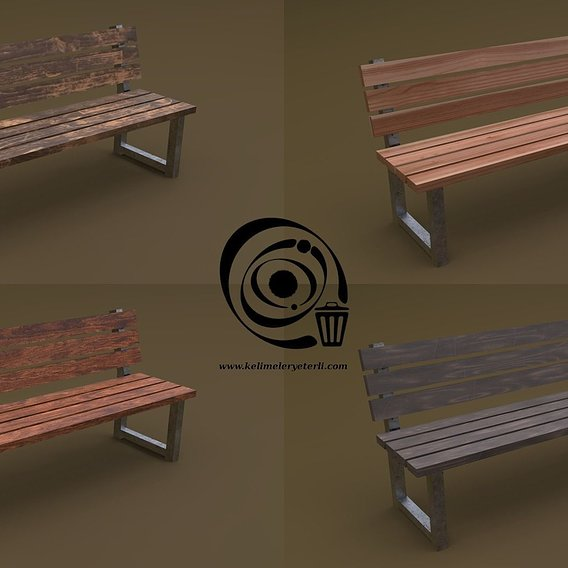 Bench 35 4in1 - 4 PBR Texture 1 Model RR