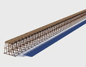 3D model Wood Trestle 2 Lod textures and materials 2K and
