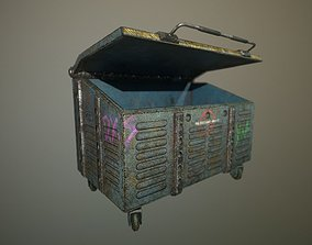 futuristic Skip - Dumpster 3D asset
