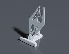 Elder Scrolls Skyrim Smartphone Stand 3D printable model