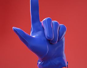 Male Gloved Hand 19 3D model