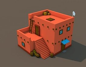 3D asset Low Poly Arab House