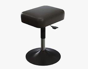 3D PBR Piano stool adjustable 01