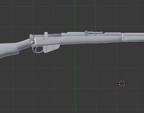 Lee-Enfield SMLE No1 Mk3 303 with Bayonet blend 3D asset 3