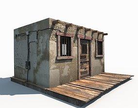 Western Jail Low Poly 3D asset