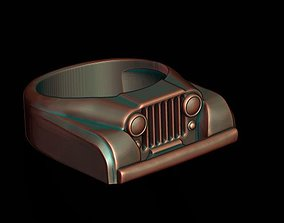 3D printable model car ring 22