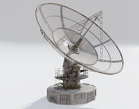 3D model radio satelitte dish