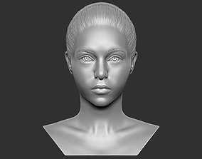 Beautiful woman bust 3D printing ready TYPE 7 art