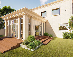 Conservatory structure sketchup model