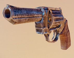3D asset Revolver Weapon