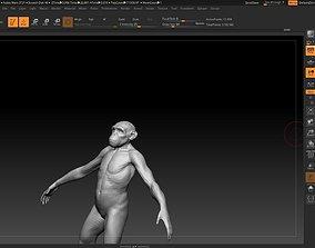 monkey low poly 3D asset