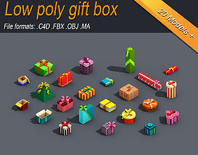 3D asset Low Poly Gift Box