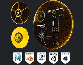 3D asset Voyager Golden Record