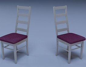 3D model Wooden Chair for Dining Room
