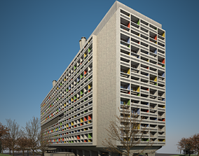 Unite Habitation Marseille 3D