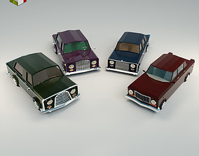 3D model Low Poly Sedan Car Pack 02