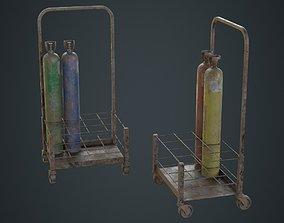 3D asset Gas Cylinder 3C